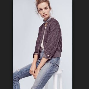 Hei Hei Itinerary Bomber Jacket Quilted Gray Moto
